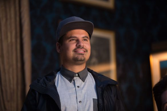 Michael Peña delivers an outstanding performance as Luis, Scott Lang's cellmate-turned-roommate.